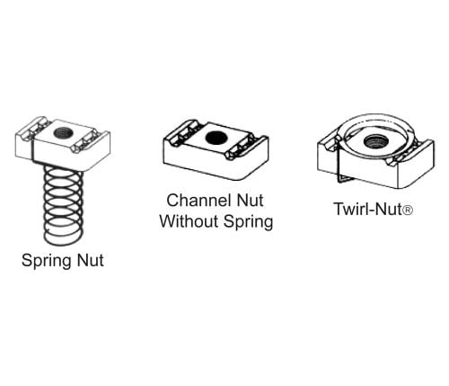 Channel Nuts for use with BL-5400-04 Series Channel
