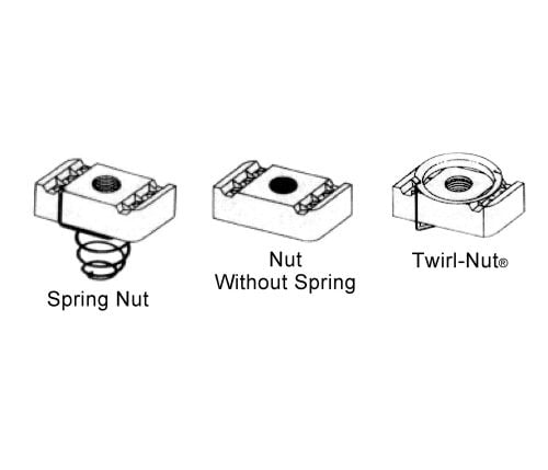 Channel Nuts for use with BL-5400-09 Series Channel