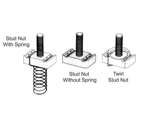 Channel Stud Nuts for use with BL-5400-04 Series Channel