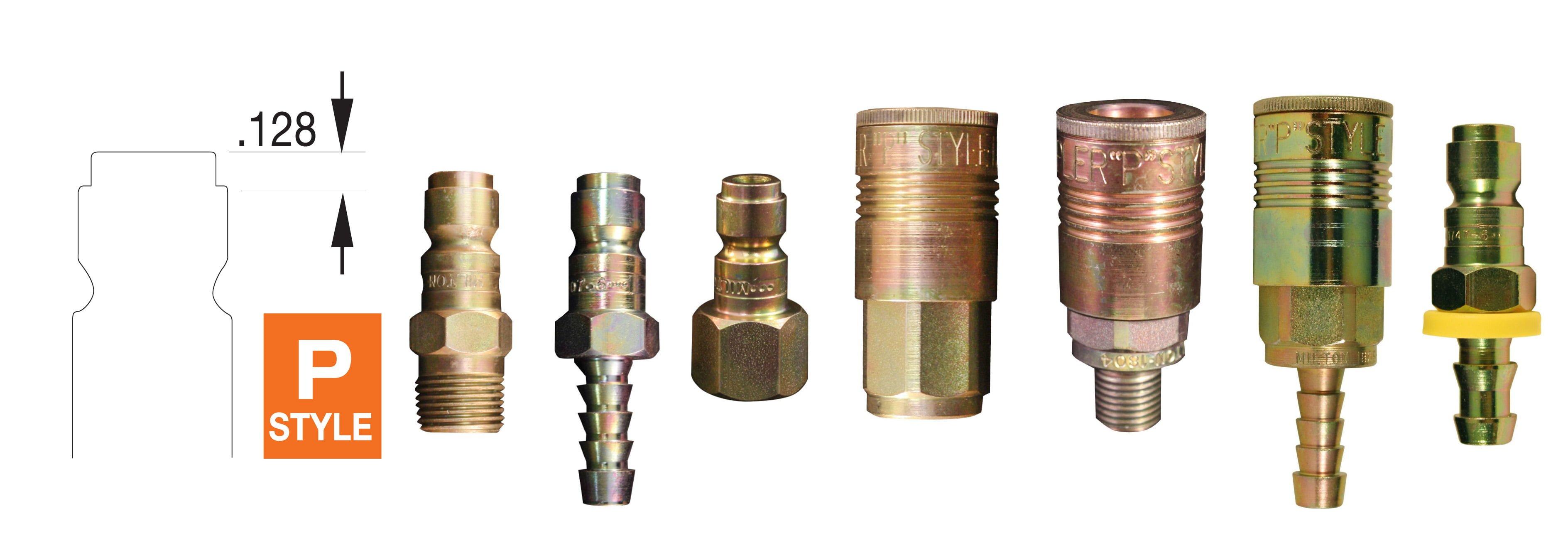 "Milton 1809 1//4/"" NPT P Style Male Plug Set Of 5"