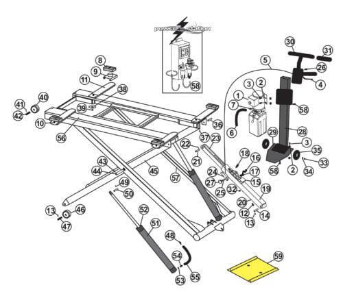 Parts for Tuxedo Mid-Rise Lift MR6K-48X