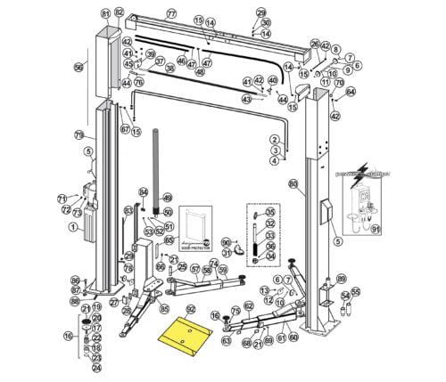 Repair Parts for Atlas Lift APEX 10