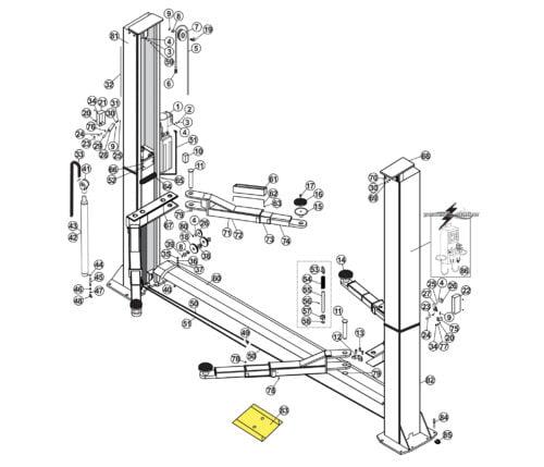 Parts for Atlas Lifts BP12000X