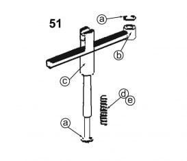 Parts Breakdown for Forward Lifts DPO9A2 Arm Restraint Assembly