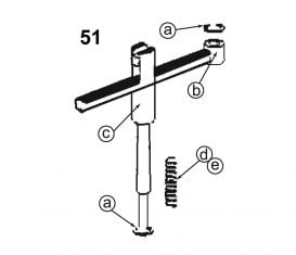 Parts Breakdown for Forward Lifts DPO9A Arm Restraint Assembly