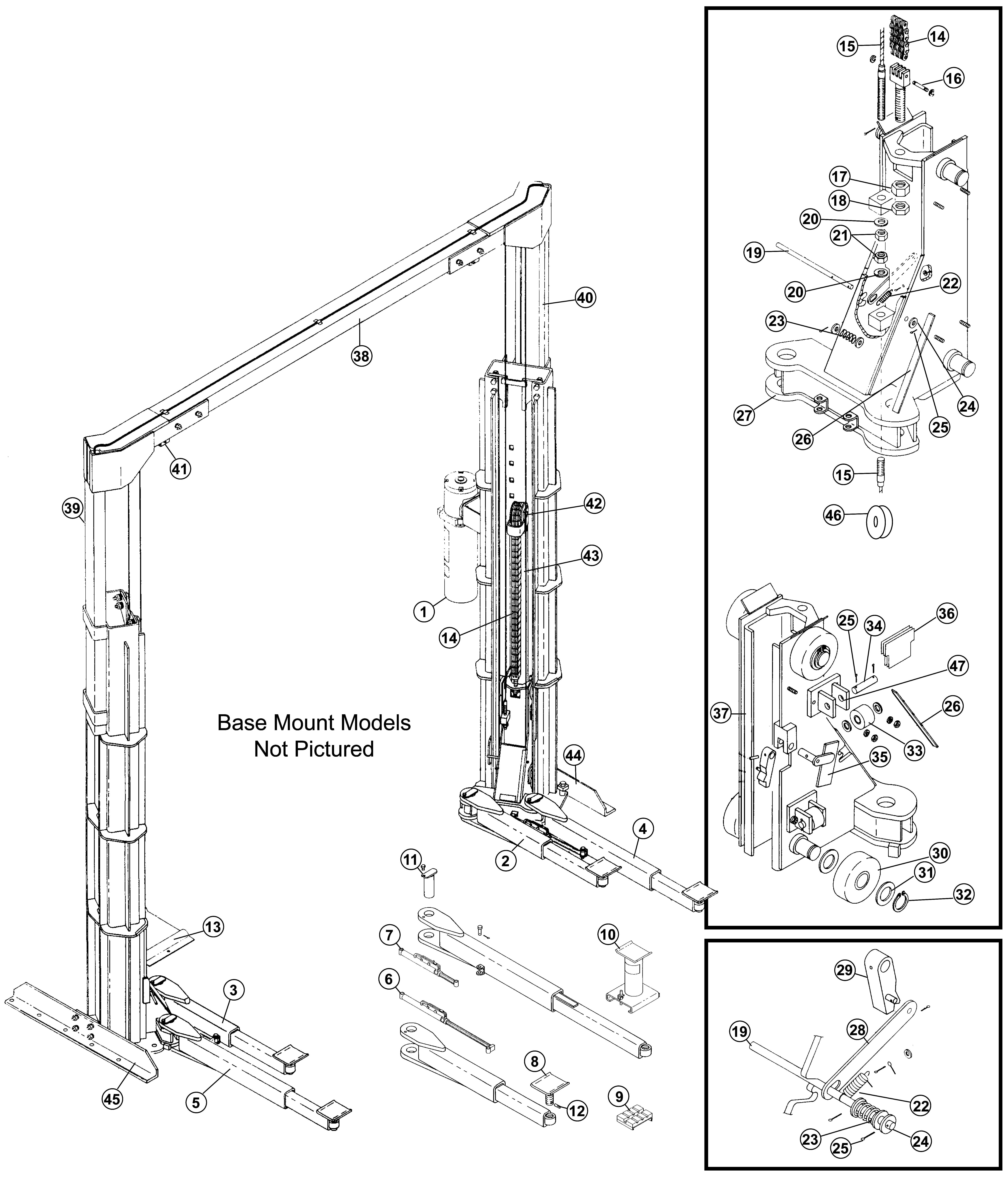 Parts for Gilbarco Lifts GFF-90 | SVI International, Inc. | Tuxedo Car Lift Wiring Diagram |  | SVI International, Inc