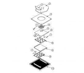 Parts Breakdown for Rotary Lift AR94 Aligner Turnplate
