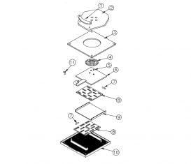 Parts Breakdown for Rotary Lift ARO94 Aligner Turnplate