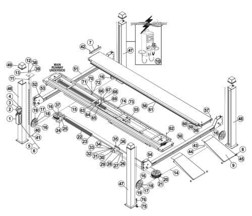 Parts for Tuxedo Lift FP12K-K