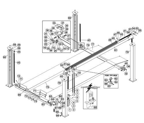 Parts for Tuxedo Lift FP14K