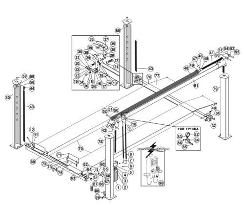 Parts for Tuxedo Lift FP14KA