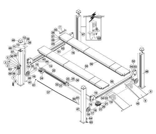 Parts for Tuxedo Lift FP14KA-C