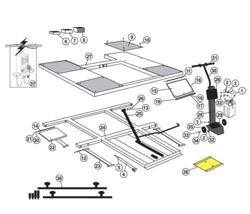 Parts for Tuxedo Lift LR-26-PAD Low Rise Pad Lift