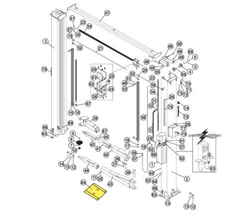 Parts for Tuxedo Lift TP11KC-DX
