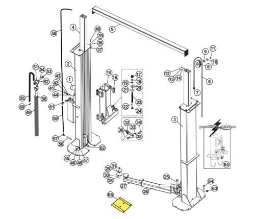 Parts for Tuxedo Lift TP15KC-K