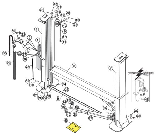 Parts for Tuxedo Lift TP15KF