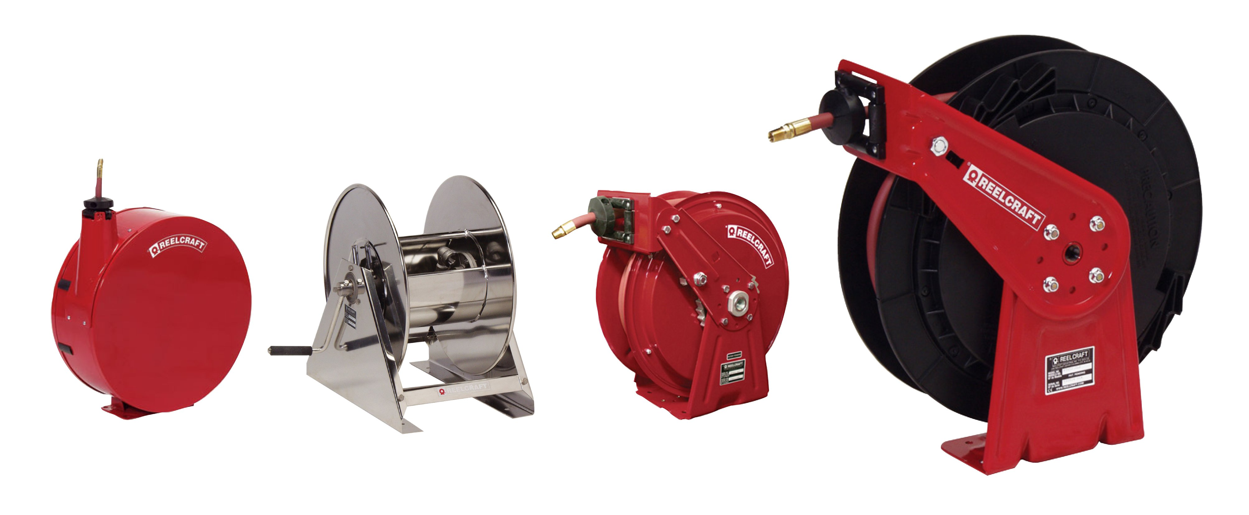 100 Air//Water Hose Not Included 100/' Air//Water Hose Not Included Reelcraft CT8100LN Light Industrial Hand Crank Hose Reel