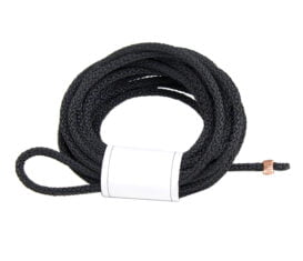 BP-1376 Black Braided Nylon Cable with stop one end for Gasoline Dispensers Retractor or Non-Retractor