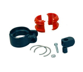 """BP-1398 Clamshell Retractor Clamp for 31,7 and 1-1/4"""" OD EV Charger Cable Cord or Curb Pump Hose"""