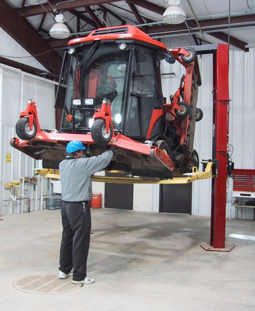 2-Post Lift Attachments for Repair of Mowers, Turf Equipment UTVs ATVS