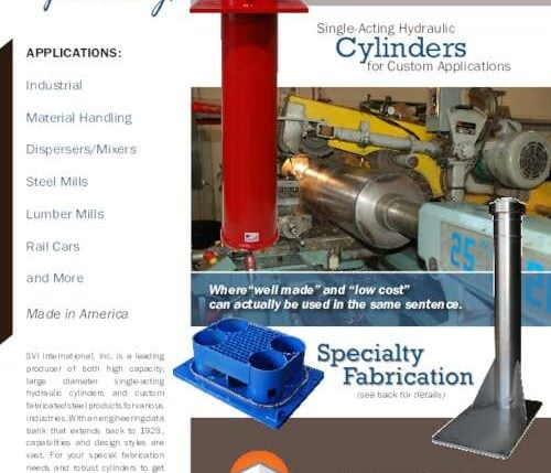High-capacity hydraulic cylinders