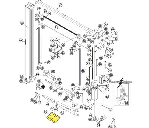 Parts for Tuxedo Lift TP10KAC-DX