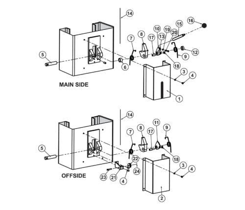 Parts for Tuxedo Lift TP10KAC-DX Lock Release Detail