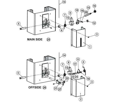 Parts for Tuxedo Lift TP11KAC Lock Detail