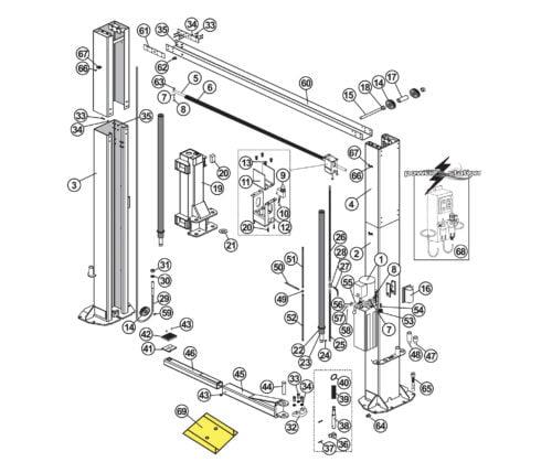 Parts for Tuxedo Lift TP12KC-D