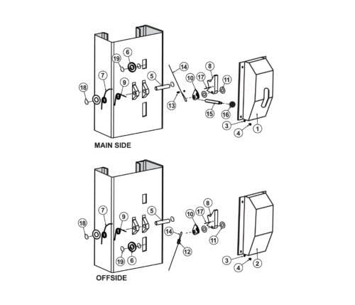 Lock Release Parts for Launch Tech TLT210-XT Tuxedo