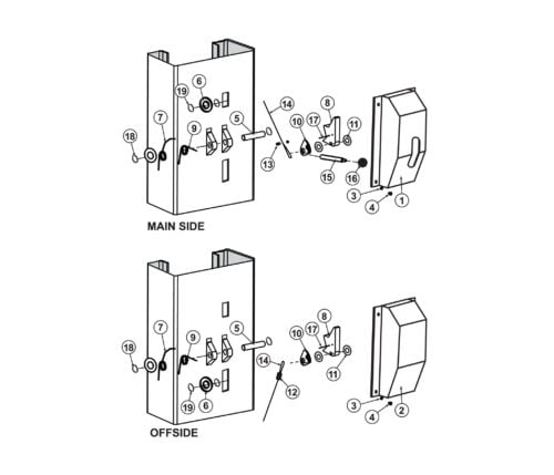 Lock Release Parts for Launch Tech TLT211-AS Tuxedo