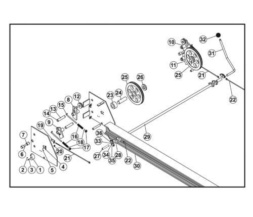 Parts for Tuxedo Lift FP12K-K Lock Parts